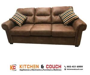 Brilliant Leather Couch Buy Or Sell A Couch Or Futon In Barrie Evergreenethics Interior Chair Design Evergreenethicsorg
