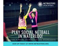Play Social Netball In Waterloo!