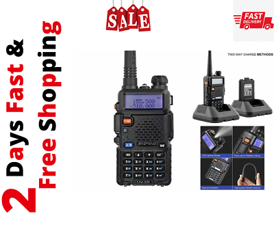 Police Fire Radio Two Way Scanner Transceiver Handheld Porta