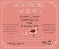 Baby Led Weaning and Baby Sign Language