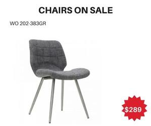 Dark Grey Accent Chair With Stool Sale Toronto- WO 7738 (BD-2554)