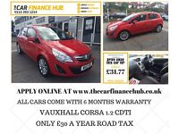 NEEED A CAR ? CANT GET CREDIT ? GIVE US A TRY ...VAUXHALL CORSA CDTI...REPRESENTATIVE APR 14% FLAT