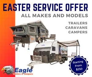 CARAVAN CAMPER TRAILER SERVICING -EASTER OFFER free metro pickup/drop Para Hills West Salisbury Area Preview
