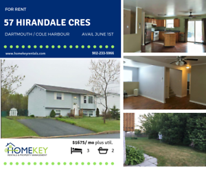 Dart/Cole Harbour Lge 3Br 2Bth Home Lge Backyard Avail June 1