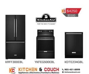 Black Stainless Steel KitchenAid Appliance Package | Appliance Deals (KTN405)