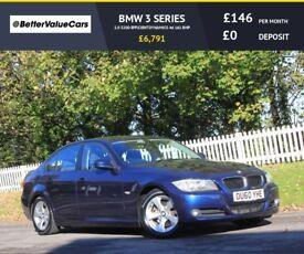 BMW 3 SERIES 2.0 320D EFFICIENTDYNAMICS 4d 161 BHP RAC WARRANTY (blue) 2010