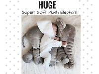 HUGE PLUSH STUFFED ANIMAL ELEPHANT SOFT TOY PILLOW BABY NURSERY DECORATION CUTE GIFT NEW
