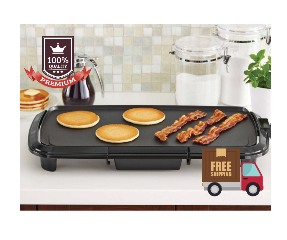 """Grill Griddle 20"""" Electric Non Stick Flat top Indoor Counter"""