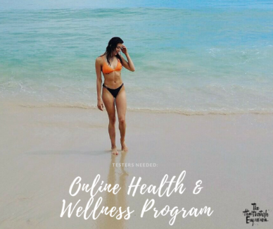 4 Testers Required - Online Health And Wellness Program
