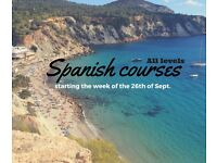 Spanish courses. All levels