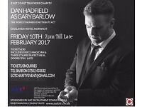 East coast truckers charity night. Dan Hadfield As Gary Barlow the worlds number 1 tribute act