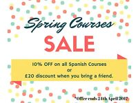 Spanish Lessons / Courses . Qualified Native Spanish Teacher- Now get a 10% OFF.