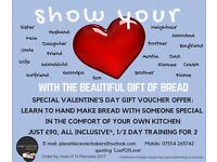 Introductory Bread Training for 2: special offer voucher gift for Valentine's Day