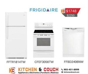 Frigidaire White Bundle Appliance Deal  (FTR401)