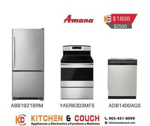 Amana Stainless Steel 3 Package Appliance Deal (JA403)