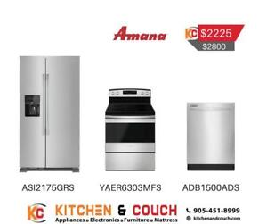 Amana 3 appliance Deal - Fridge , Dishwasher, Stove (JA404)
