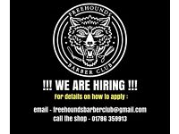 BARBER WANTED - STIRLING - Full time or part time