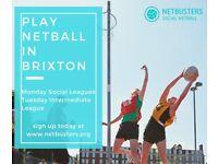 NEW SEASONS- Play Netball In Brixton!