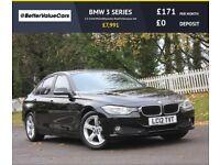 BMW 3 SERIES 2.0 320d EfficientDynamics BluePerformance 4dr (black) 2012