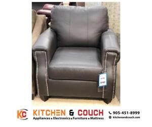 MARKDOWN PRICES ON LIVING ROOM FURNITURE  | GENUINE LEATHER CHAIR ON SALE (KC19)