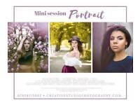 Mini portrait session in park