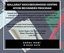 MYOB Beginners Sebastopol Ballarat City Preview