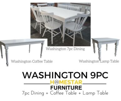Washington 9pc Dining Set Limited Time Offer Only $950