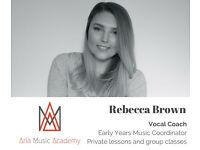 Vocal Coaching and Children's Music Classes - any age, one-to-one or group lessons!