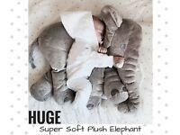 HUGE PLUSH STUFFED ANIMAL ELEPHANT SOFT TOY PILLOW BABY NURSERY DECORATION CUTE GIFT BRAND NEW