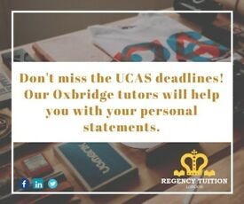 Tuition for all levels! UCAS/Personal Statement help from Oxbridge students!!
