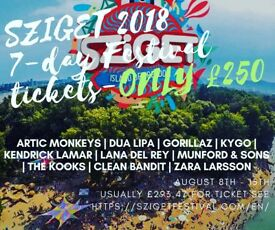 X2 Real Sziget Festival 2018 Tickets (Included Guarded Locker).