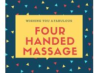 Four handed massage treatments