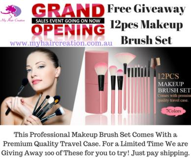 Free 12pcsMakeup Brush Set Comes with Premium Quality Travel Case