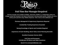 Bar Manager For Independent Cocktail Bar