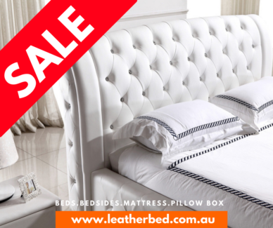 🛌 **SALE NOW ON** LEATHER BED FREE SHIPPING KING QUEEN MELBOURNE