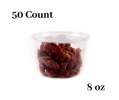 8oz Plastic Deli Food Storage Containers with Lids 50 Count