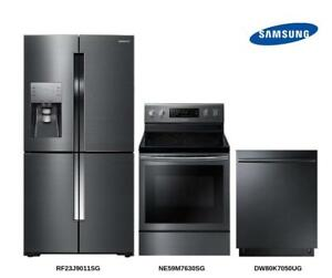 Black Stainless Steel Appliance Package (B14)