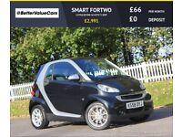 SMART FORTWO 1.0 PULSE MHD 2d AUTO 71 BHP RAC WARRANTY + BREAKD (black) 2009