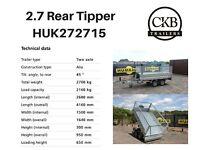 Humbaur Rear Tipper Trailer 2700kg HUK272715