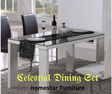 Brand New Celestial 7pc Dining SetPU Leather Chairs