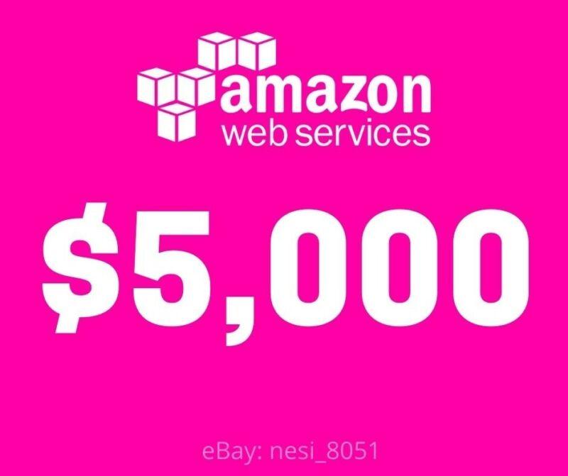 AWS - Amazon Web Services $5,000 Credits - 2 Years Expiry
