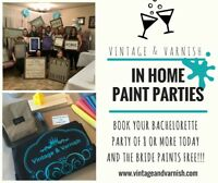 In Home Bachelorette Paint Parties