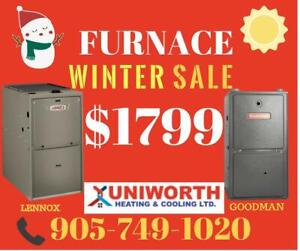 New Furnace and AC With Installation