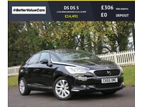 DS DS 5 1.6 BLUEHDI ELEGANCE S/S 5d 118 BHP RAC WARRANTY + (black) 2015