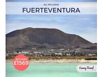 SAVE! Cancellation! 2ad 2ch Flight + Holiday, flying from Glasgow Prestwick to Fuerteventura