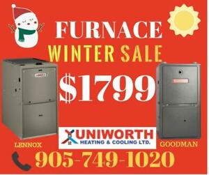 New Furnace and Air Conditioner With Installation