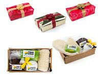 HOME SPA GIFT SET - Bath bomb, Olive soap, Volcanic pumice, Exfoliating Glove - Christmas Birthday