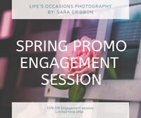 Spring Promo: Engagement sessions