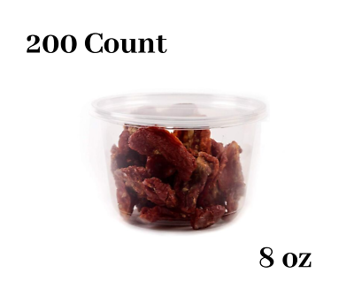 8oz Plastic Deli Food Storage Containers with Lids 200 Count