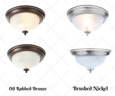 - Light Bulb Dimmable Ceiling Fixture Glass Lighting Flush Mount Frosted Swirl